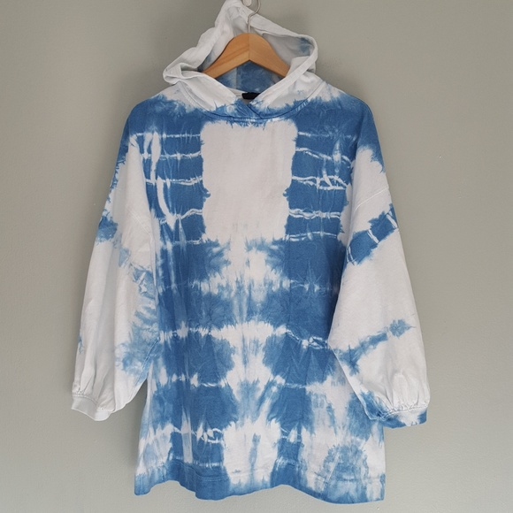 Urban Outfitters Tops - Urban Outfitters Trapeze Hoodie Hand Dyed Custom